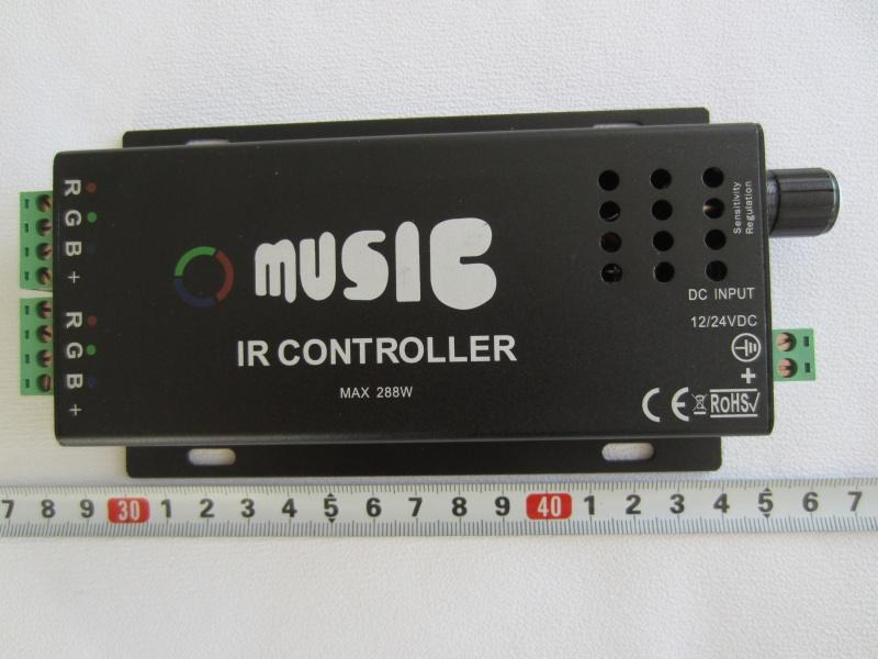 RGB audio - mizikinis valdiklis IR 24 mygtukų 12V 24A 288W
