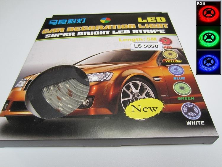LED jousta automobiliui RGB 5050 SMD 1m 7,2W