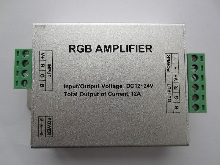 RGB stiprintuvas 12V 12A 144W LED juostai 5050, 3528