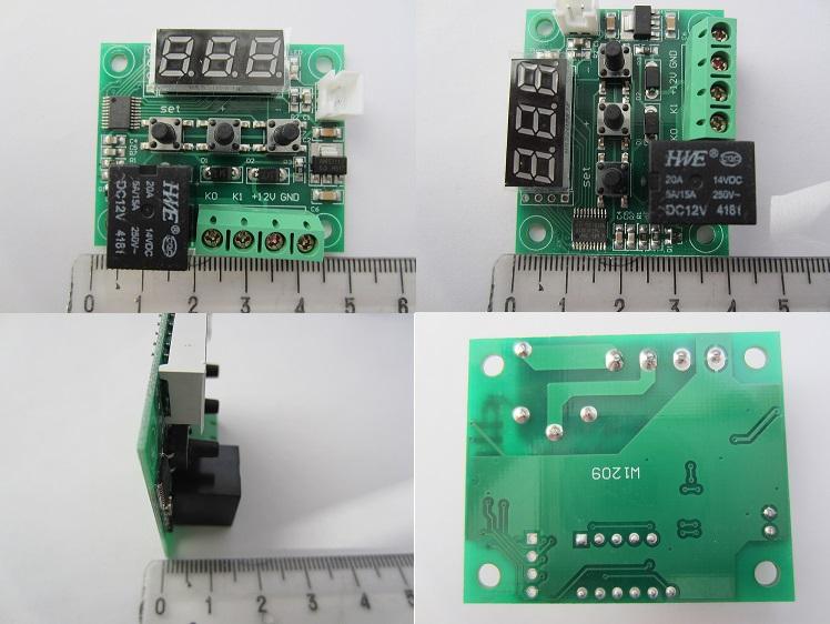 Termoreguliatorius - termostatas 12V 3 skaičių