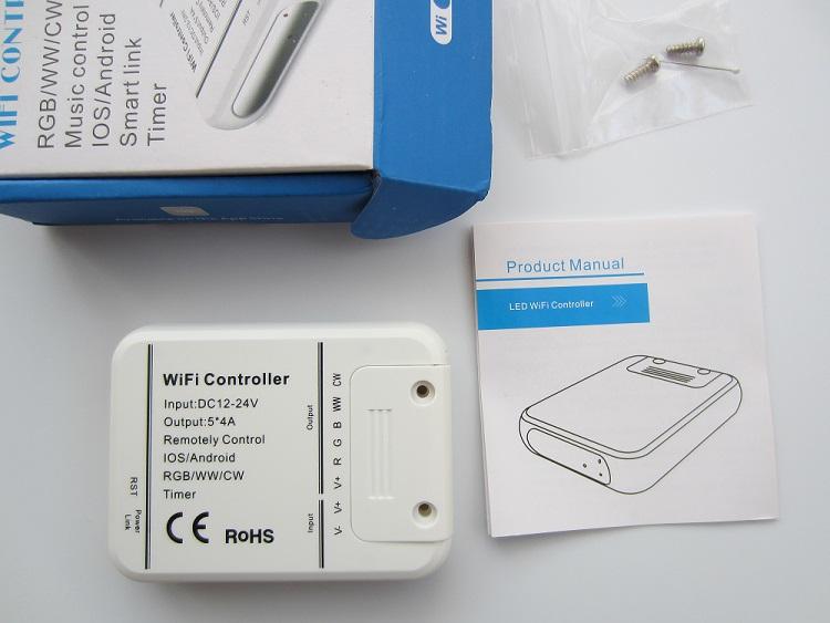 WiFi valdiklis RGB/RGBW/WW/CW 7-24V 5x4A