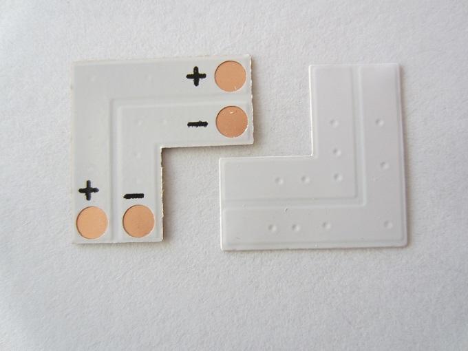 2 kontaktų L tipo jungtis 8mm LED juostai