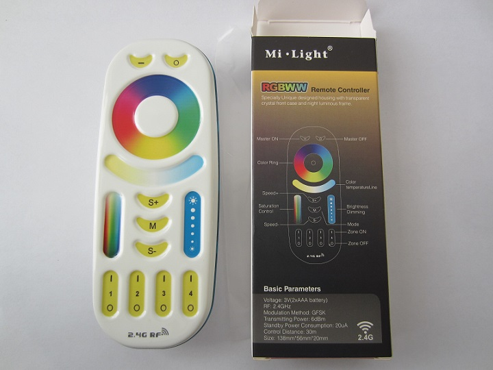RGB CCT Mi-Light pultelis