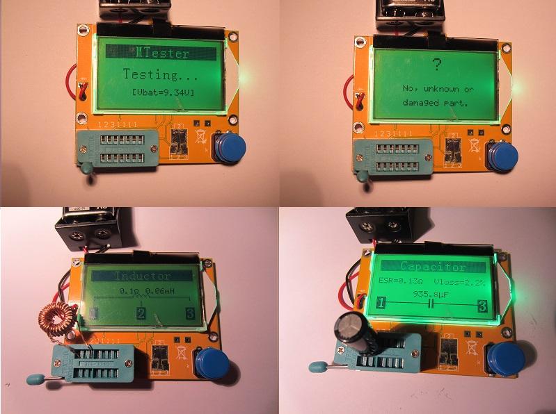Mega 328 multi funkcinis grafinis testeris LCR t3