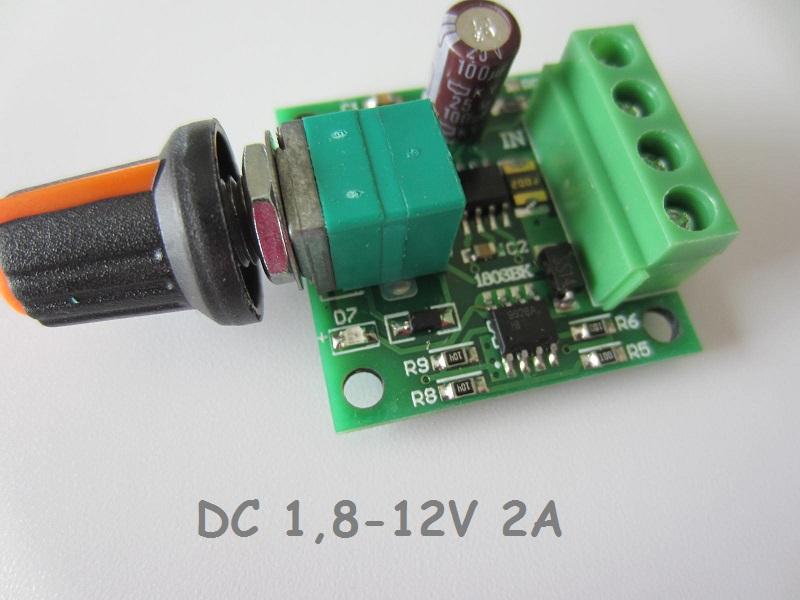 DC variklio greicio reguliatorius 1,8-12V 2A a a