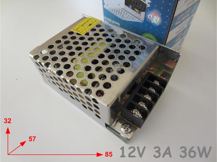 12V 3A LED Maitinimo saltinis LED juostai