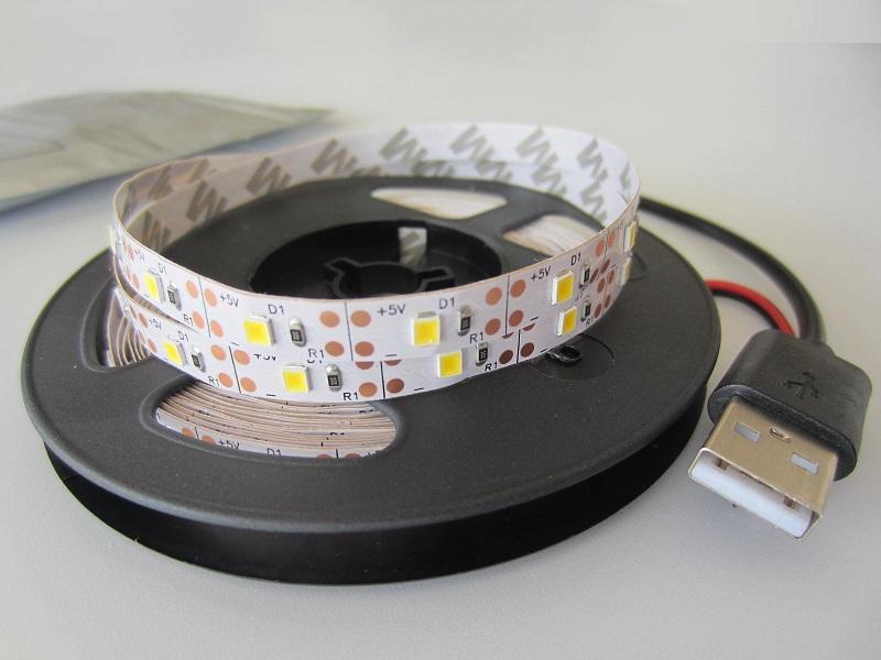 2835 LED juosta 60led m 5V USB jungtis