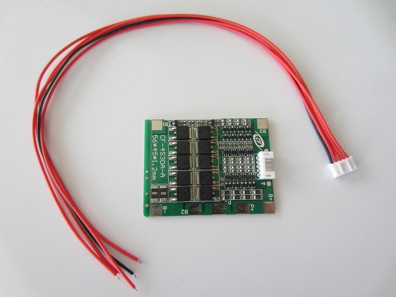 Li ion baterijos 18650 balancinis įkroviklis - apsauga 4S 14,8V 30A