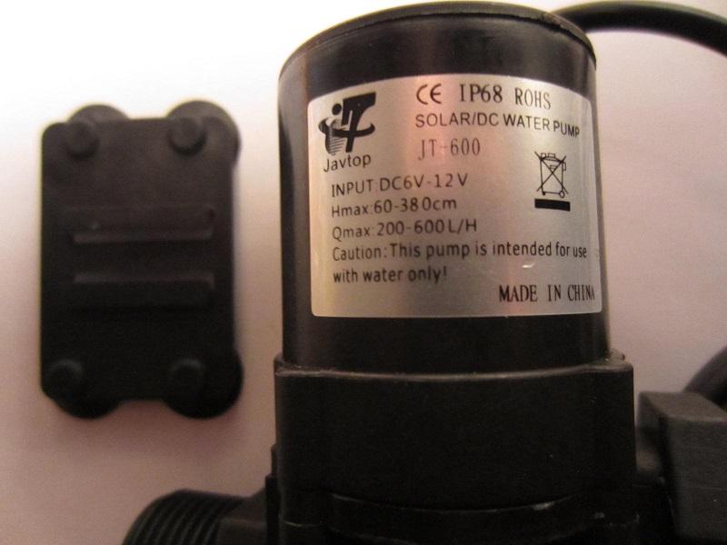 Besepetėlinis siublys cirkuliacijai 600L per valanda 5-12V 11W