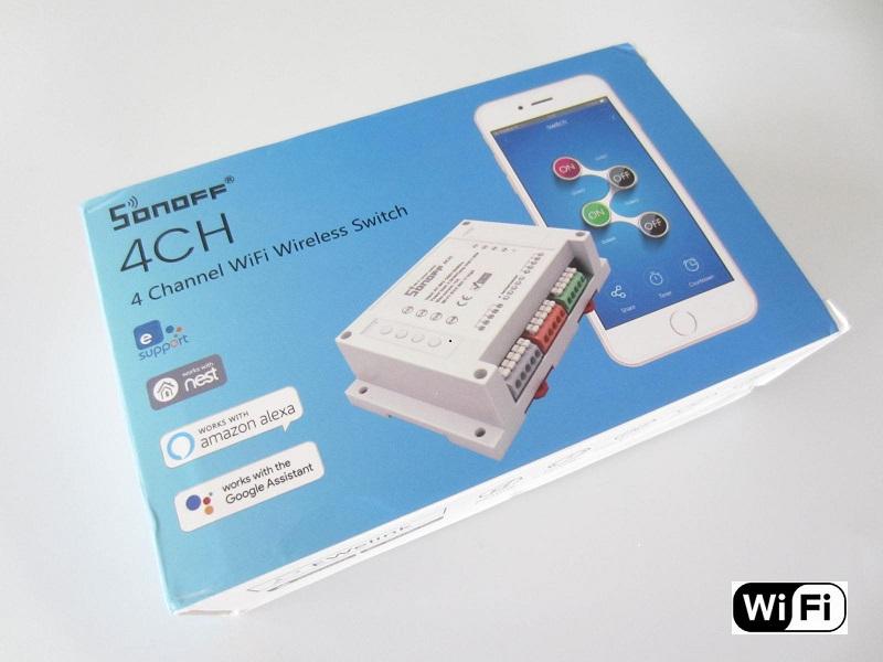Keturiu kanalu Wi-fi Jungiklis Sonoff 220V