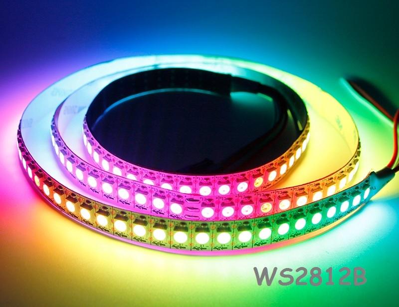 Adresuojama LED juosta WS2812B 5050, RGB, 144 LED /m, 43,2W/m, 5V