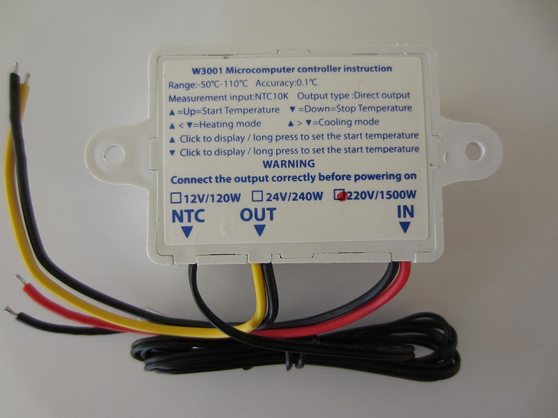 Termoreguliatorius termostatas 220V