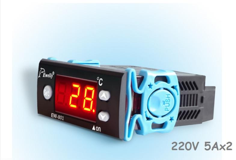 Saulės kolektorio temperatūros diferencinis termostatas EW-801AH 220V