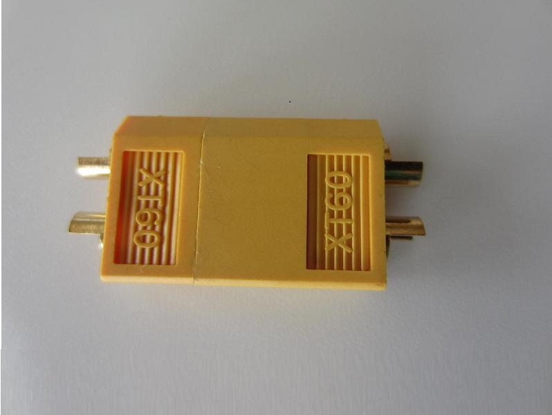 XT60 jungtis 2 kontaktai akumuliatoriui iki 65A