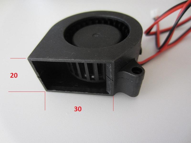 Ventiliatorius 40x40x20mm 12V 0,18A