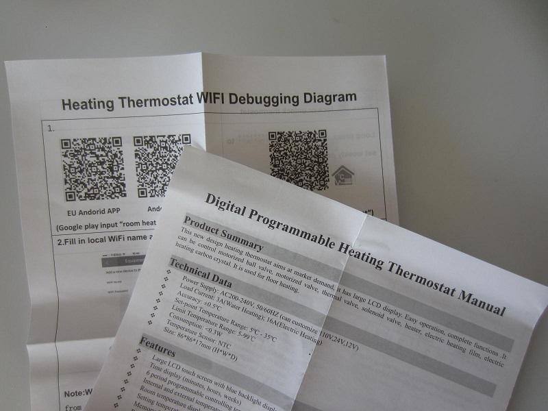 Wi-fi programuojamas termoreguliatorius e