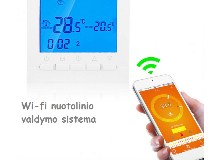 Wi-fi programuojamas termoreguliatorius k