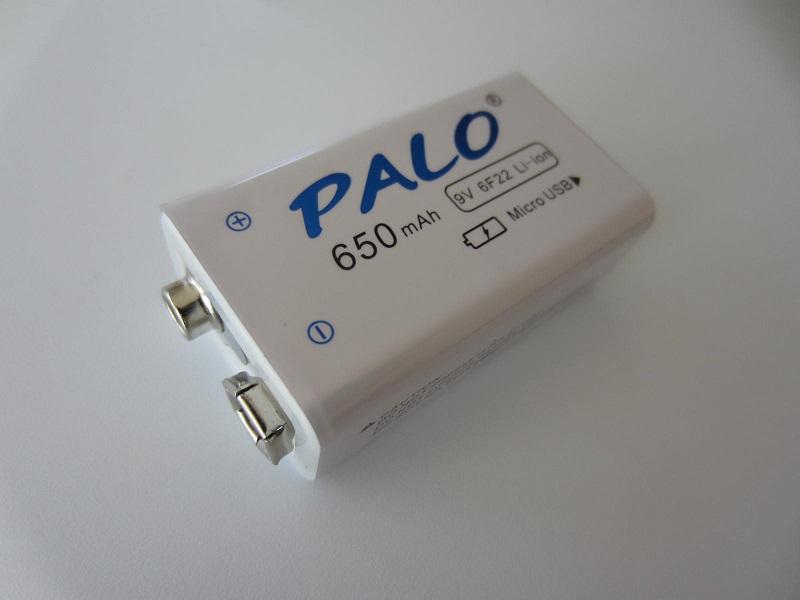 Krona PALO 9V 650mah įkraumana Licio polimeras