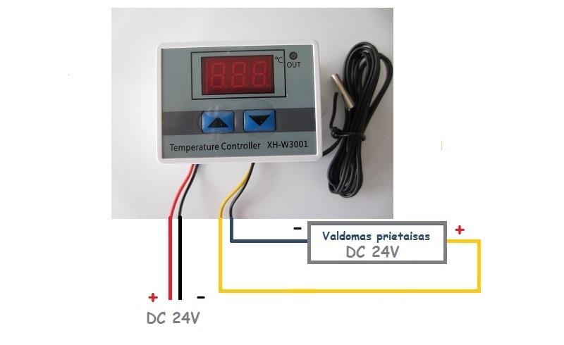 Termoreguliatorius termostatas 24V