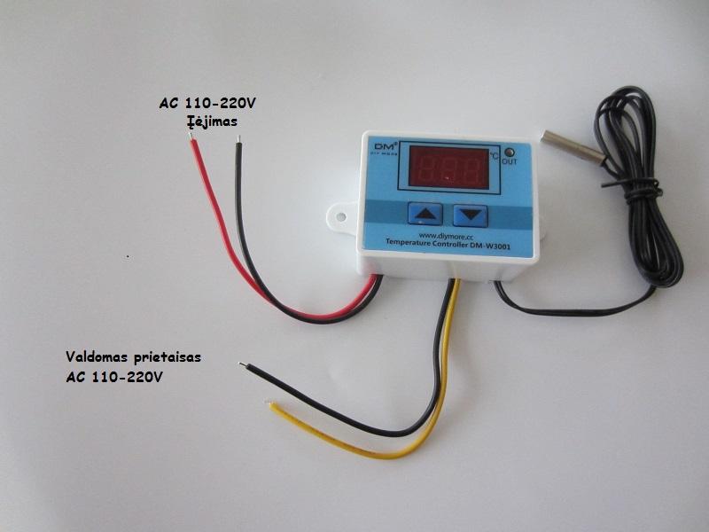 Termoreguliatorius termostatas 220V 10A