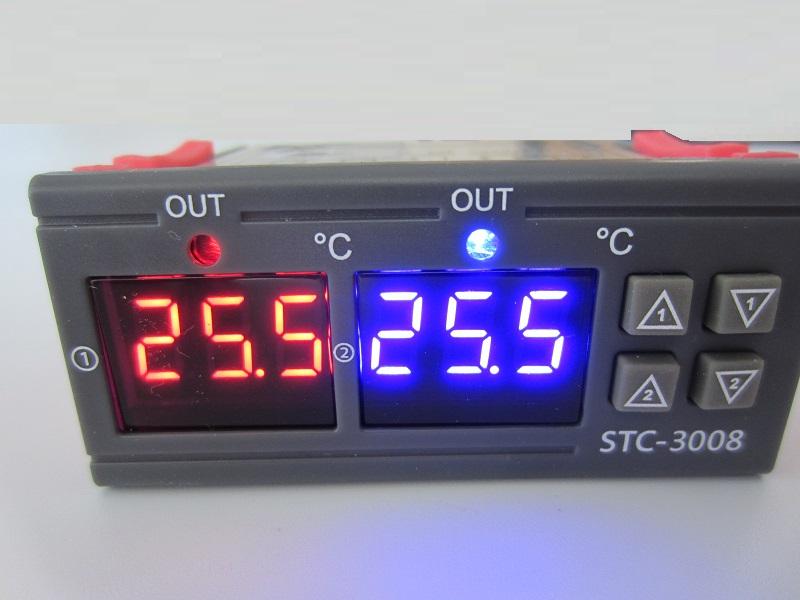 Termoreguliatorius termostatas dvieju temperaturu 12V