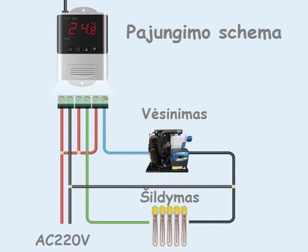Inkubatoriui 220V 10Ax2