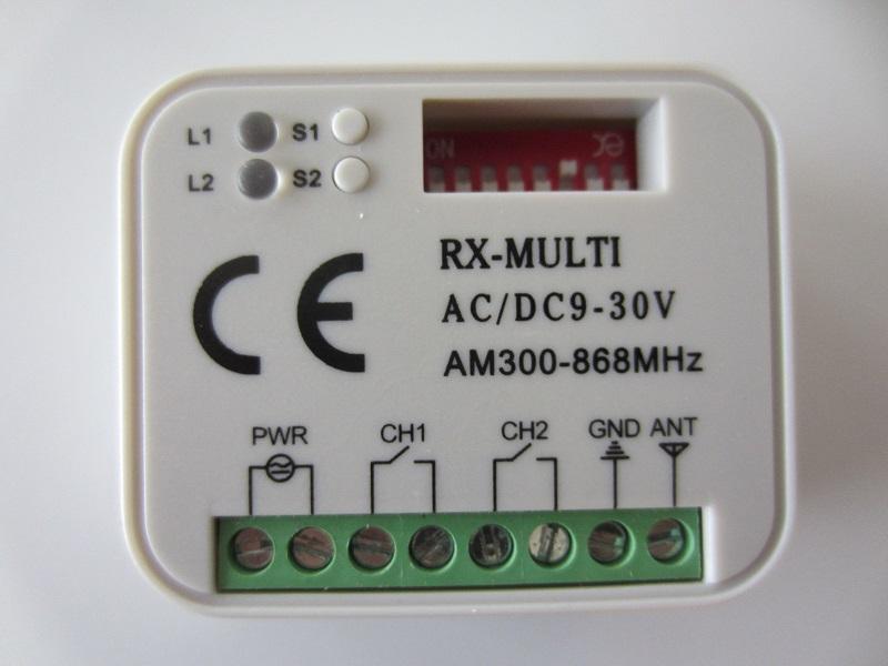 Universalus imtuvas RX-Multi 300-868Mg AC/DC 9-30V