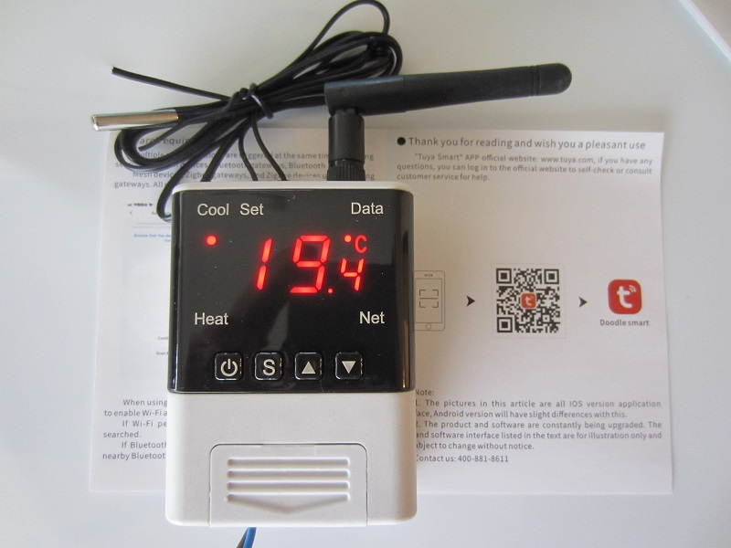 termoreguliatorius-termostatas Tuya smart inkubatoriui